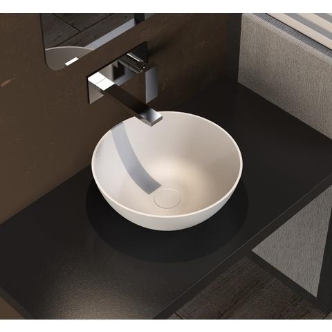 Ideavit Solidthin opzetwastafel rond 39cm mat wit