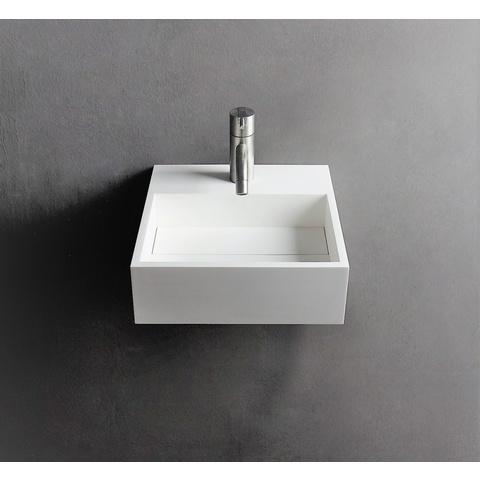 Ideavit Solidcube wastafel 30x30 cm mat wit zonder kraangat