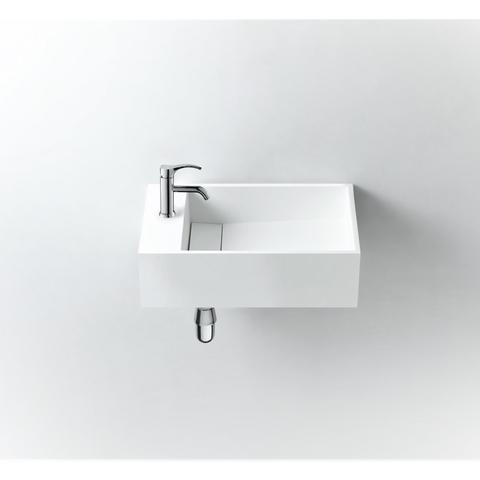 Ideavit Solidcube-50 wastafel 50x30 cm mat wit met kraangat
