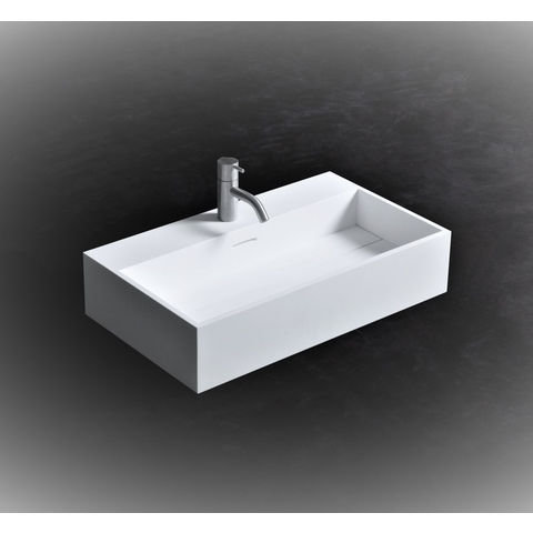Ideavit Solidpure-60 wastafel 60x35 cm mat wit zonder kraangat