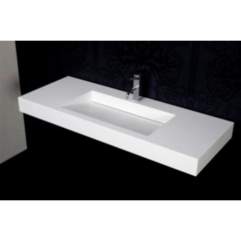 Ideavit Solidsquare wastafel 90x46 cm mat wit zonder kraangat
