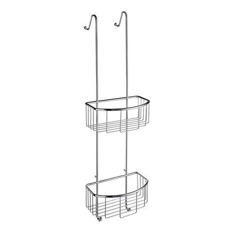 Smedbo Sideline twee douchekorven voor glasbevestiging chroom