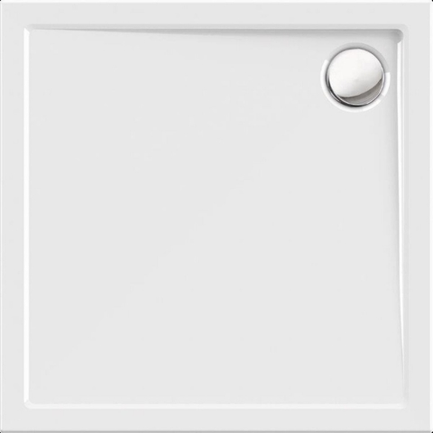 Blinq Albali douchebak 90 x 90 x 3.5 cm. met rand wit