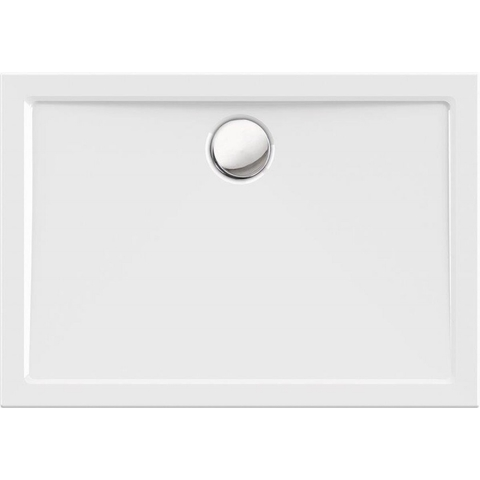 Blinq Albali douchebak 120 x 90 x 3.5 cm. met rand wit