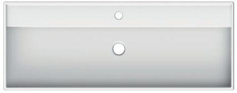Blinq Rigel wastafel 120x46 cm. met 1 kraangat met overloop wit