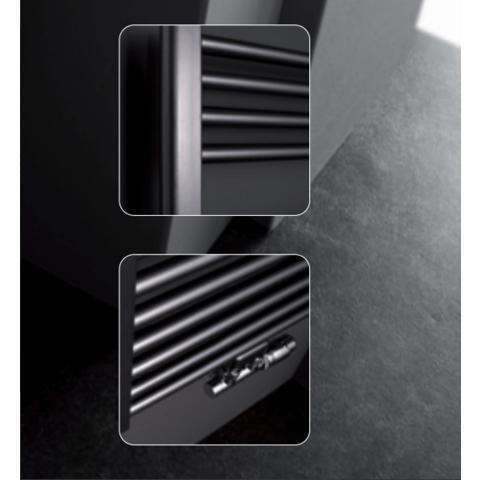 Instamat Rondo Lux badkamerradiator 181 x 50,7 cm (H x L) soft mat zwart