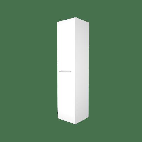 Basic Line hoge kast 150x35x35cm - 1 deur met opbouwgreep - Ice White