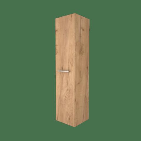 Basic Line hoge kast 150x35x35cm - 1 deur met opbouwgreep - Whisky Oak