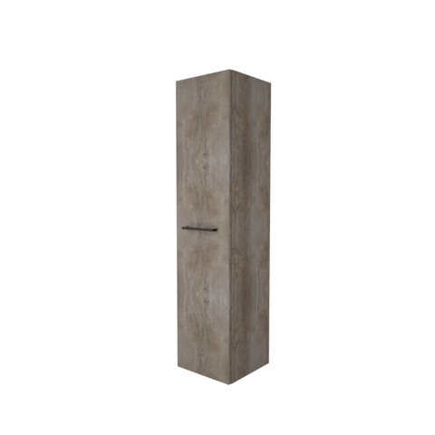 Basic Line hoge kast 150x35x35cm - 1 deur met opbouwgreep - Scotch Oak