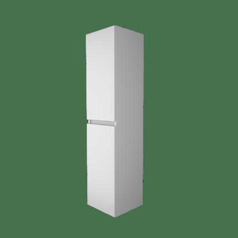 Basic Line hoge kast 150x35x35cm - 2 deuren greeploos - Ice White