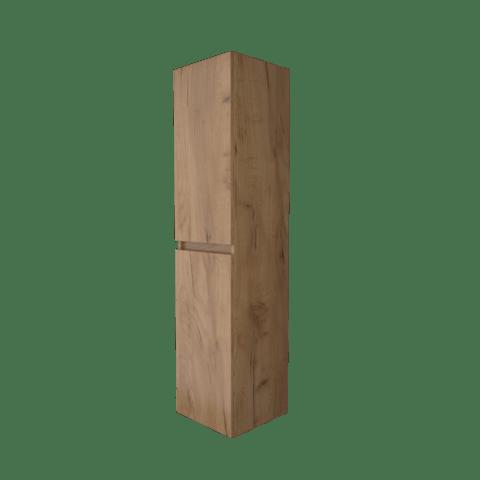Basic Line hoge kast 150x35x35cm - 2 deuren greeploos - Whisky Oak