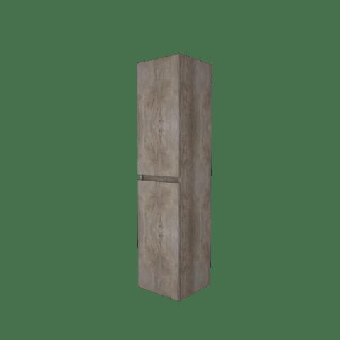 Basic Line hoge kast 150x35x35cm - 2 deuren greeploos - Scotch Oak