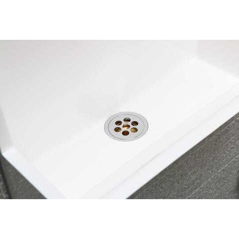 Ink Recess inbouwfontein set compleet 40x21x40cm - glans wit