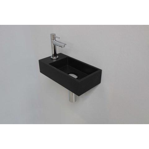 Ink Versus fonteinpack - links - quartz zwart - toebehoren chroom