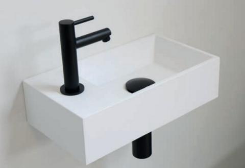 Ink Versus fonteinpack - links - polystone glans wit - toebehoren zwart