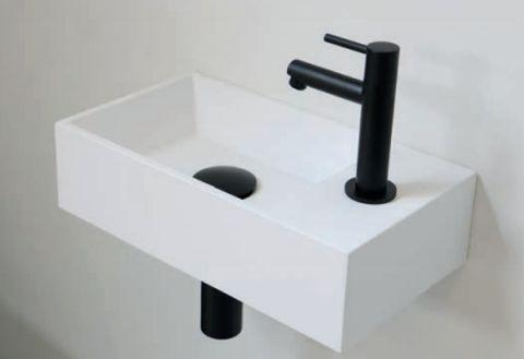 Ink Versus fonteinpack - rechts - polystone glans wit - toebehoren zwart