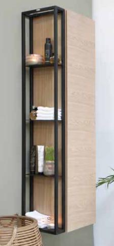 Riverdale stalen frame tbv hoge kast - mat zwart 100x320mm (bxd)