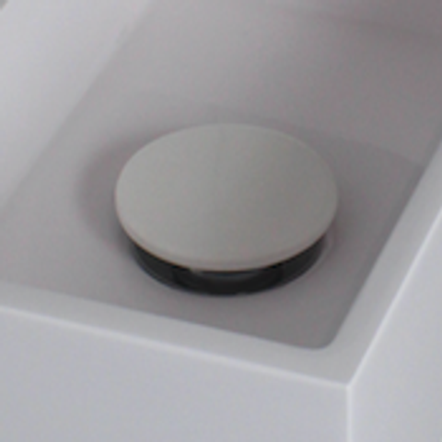 Ink niet-afsluitbare plug - polystone mat wit