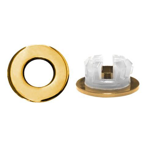 Bewonen wastafel overloopring ø30mm goud