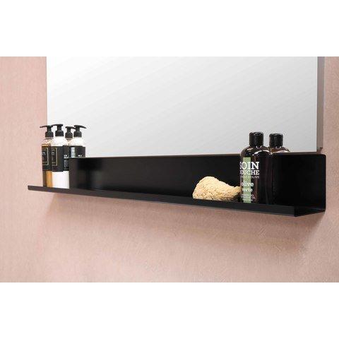 Bewonen Loft badmeubel met porselein wastafel met 1 kraangat en onderkast symmetrisch - Cabana oak/Glans wit - 80x46cm (bxd)