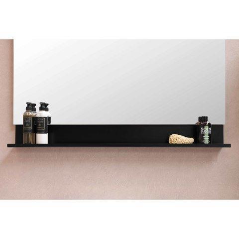 Bewonen Loft badmeubel met porselein wastafel met 1 kraangat en onderkast a-symmetrisch - Glans wit/Glans wit - 120x46cm (bxd)