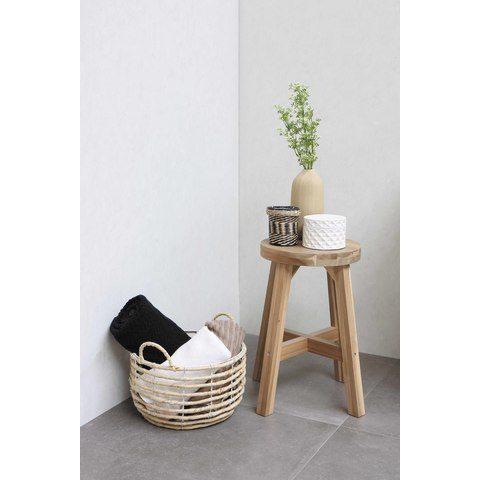 Bewonen Loft badmeubel met polystone wastafel met 1 kraangat en onderkast a-symmetrisch - Ideal oak/Glans wit - 80x46cm (bxd)