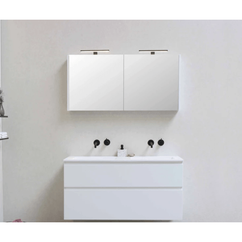 Bewonen Comfort spiegelkast met houten deuren - Raw oak - 80x60cm