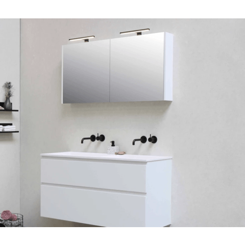 Bewonen Comfort Spiegelkast - Cabana oak - 80x14cm (bxd)
