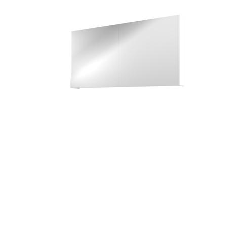 Bewonen Comfort spiegelkast met 2 houten deuren - Mat wit - 120x60cm