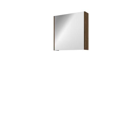 Bewonen Xcellent spiegelkast met glazen deur - Cabana oak - 60x60cm