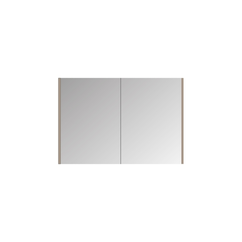 Bewonen Xcellent Spiegelkast - Mat zwart - 100x14cm (bxd)