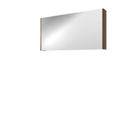 Bewonen Xcellent spiegelkast met 2 glazen deuren - Cabana oak - 120x60cm