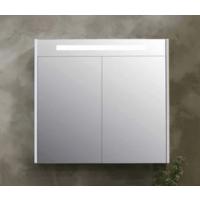 Bewonen Premium Spiegelkast - Glans wit - 80x14cm (bxd)