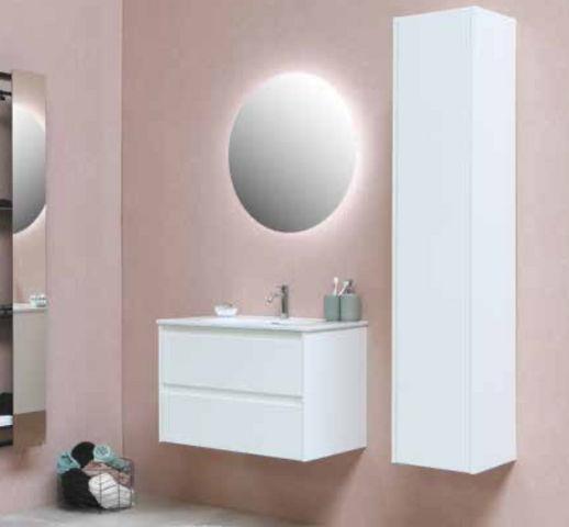 Bewonen Round Spiegel rond - met indirecte LED verlichting rondom- 120x120cm