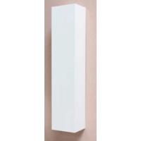 Bewonen P2O Hoge kast 1 deur push 2 open inclusief 4 glazen planchettes - Glans wit - 35x35cm (bxd)