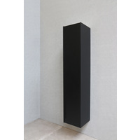 Bewonen P2O hoge kast 1 deur push-to-open - Mat zwart - 169x35x35cm