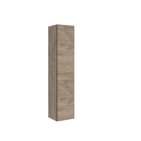 Bewonen P2O Hoge kast 1 deur push 2 open inclusief 4 glazen planchettes - Raw oak - 35x35cm (bxd)