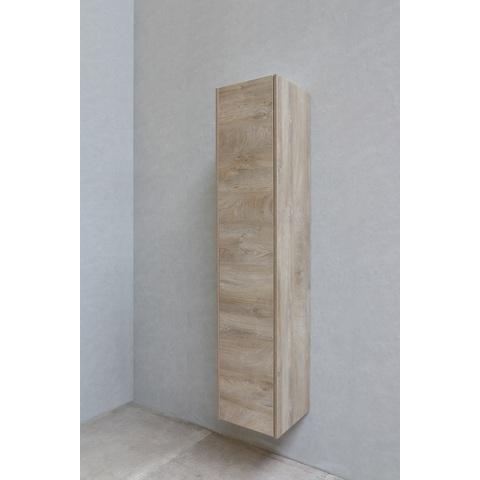 Bewonen P2O hoge kast 1 deur push-to-open - Raw oak - 169x35x35cm