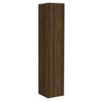 Bewonen P2O Hoge kast 1 deur push 2 open inclusief 4 glazen planchettes - Cabana oak - 35x35cm (bxd)