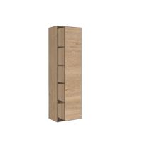 Bewonen Hoge kast 1 deur met 5 schappen en inclusief 4 glazen planchettes - Ideal oak - 45,5x35cm (bxd)