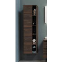 Bewonen Hoge kast 1 deur met 5 schappen en inclusief 4 glazen planchettes - Cabana oak - 45,5x35cm (bxd)