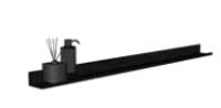 Bewonen Stalen planchet 60 - Mat zwart - 60x10cm (bxd)