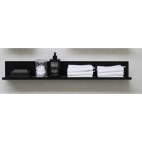 Bewonen Stalen planchet 120 - Mat zwart - 120x10cm (bxd)