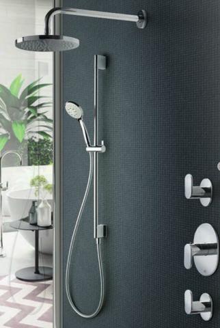 Hotbath IBS 5 Get Together inbouw doucheset Friendo chroom - met staafhanddouche - plafondbuis 30cm - hoofddouche 20cm - wandsteun