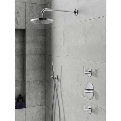 Hotbath IBS 5 Get Together inbouw doucheset Friendo geborsteld nikkel - met staafhanddouche - wandarm - hoofddouche 25cm - wandsteun