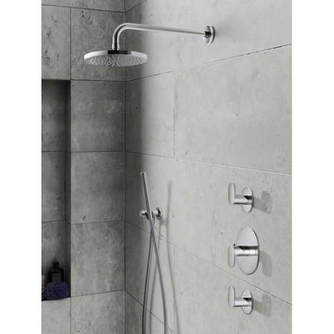 Hotbath IBS 5 Get Together inbouw doucheset Friendo geborsteld nikkel - met staafhanddouche - wandarm - hoofddouche 25cm - glijstang