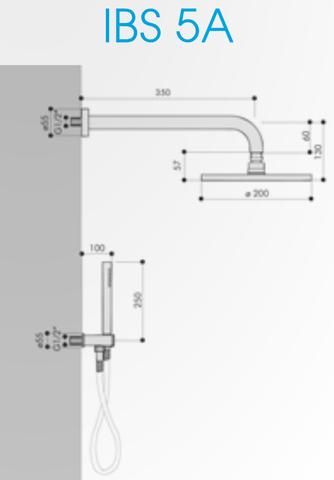 Hotbath IBS 5A Get Together inbouw doucheset Friendo chroom - met ronde 3-standen handdouche - wandarm - hoofddouche 20cm - glijstang