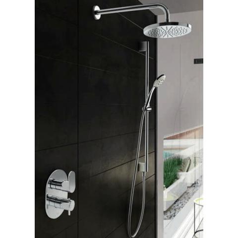 Hotbath IBS 5A Get Together inbouw doucheset Friendo chroom - met staafhanddouche - plafondbuis 30cm - hoofddouche 30cm - wandsteun