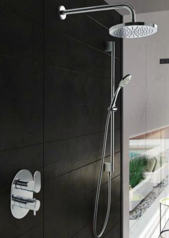 Hotbath IBS 5A Get Together inbouw doucheset Friendo chroom - met staafhanddouche - wandarm - hoofddouche 25cm - wandsteun