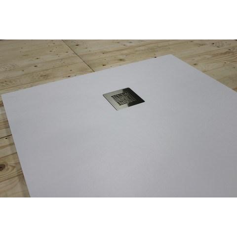 Bewonen Bauke douchebak composietsteen - 100x100x3cm - wit